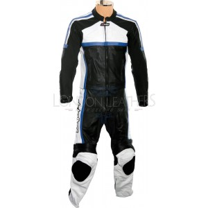 RTX Classic Sport BLUE Racing Leather Motorcycle Suit