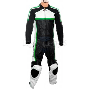RTX Classic Sport GREEN Racing Leather Motorcycle Suit