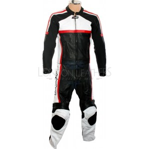 RTX Classic Sport RED Racing Leather Motorcycle Suit