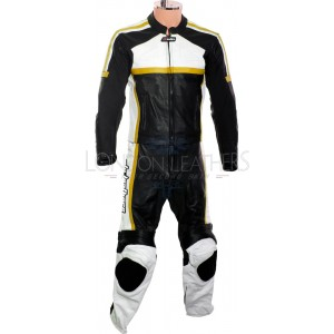 RTX Classic Sport YELLOW Racing Leather Motorcycle Suit