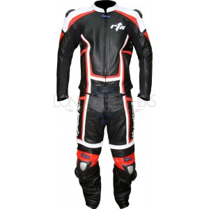 RTX Contender Black Leather Motorcycle Suit