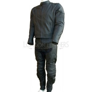 Premium Matt Leather Vented Motorcycle 2 Suit