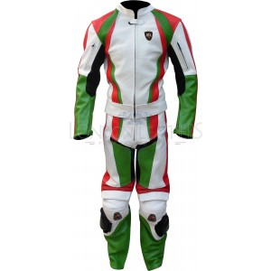 RTX Italia Tri Colour 2 Piece Motorcycle Leathers