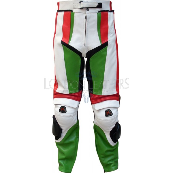 RTX Italia Leather Motorcycle Trouser Pant
