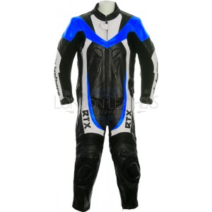 RTX F1 Junior Kids Racing Biker Blue Leathers