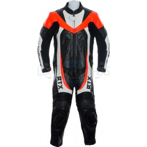 RTX F1 Junior Kids Racing Biker Red Leathers