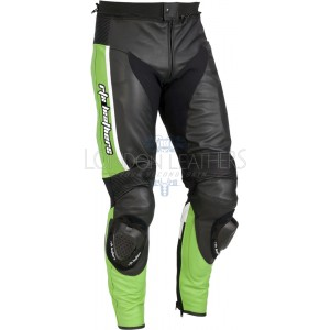 RTX Ninja Green Genuine Leather Biker Pant