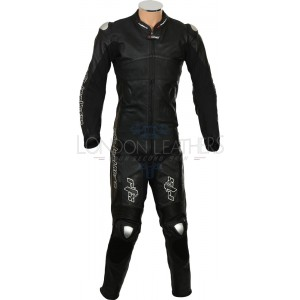 RTX Panther Black Motorcycle Racer Leathers