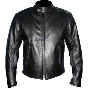 Pro Reltex Black Leather Motorcycle Jacket