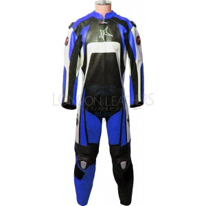 RTX KTM Pro Blue Motorcycle Leather Biker Suit