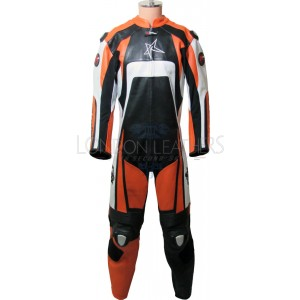 RTX KTM Pro Orange Motorcycle Leather Suit