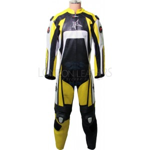 RTX KTM Pro Yellow Motorcycle Leather Suit