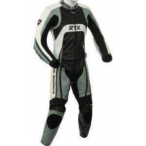 Raptor Grey Motorcycle 2pc Racing Leather Suit
