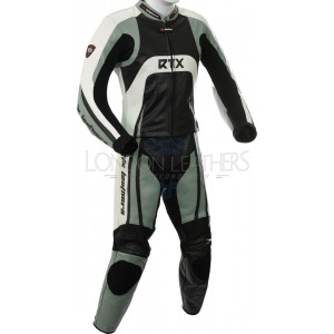 Raptor Pro Grey Motorcycle 2pc Racing Leather Suit