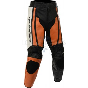 Raptor Orange Motorcycle Leather Biker Trouser