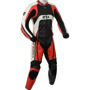 Raptor Red Motorcycle 2pc Racing Leather Suit