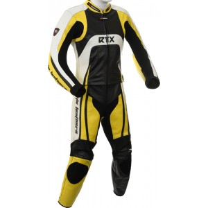 Raptor Yellow Motorcycle 2pc Racing Leather Suit