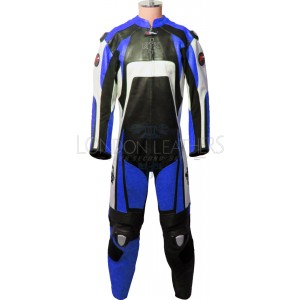 Raptor Blue Motorcycle Racing Leather Suit