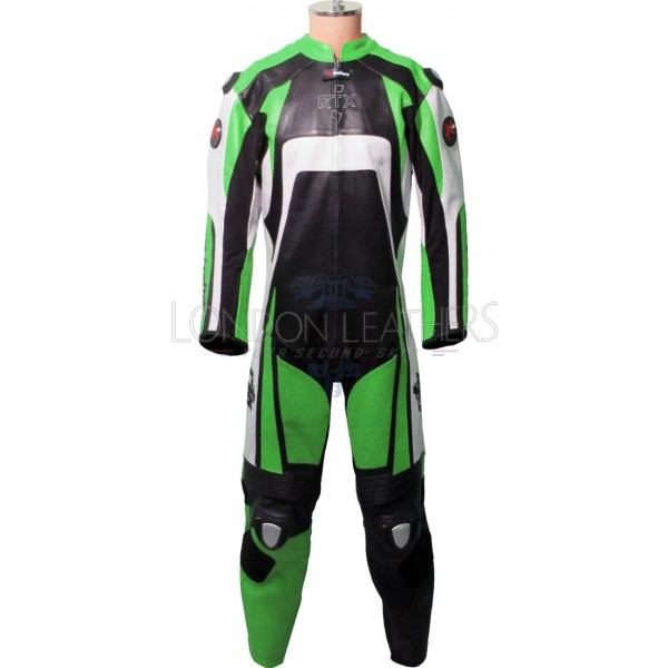 Raptor Green Motorcycle Racing Leather Suit