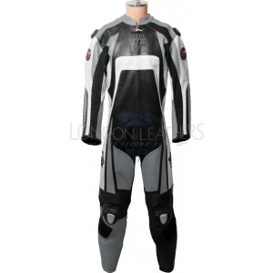 Raptor Grey Motorcycle Racing Leather Suit