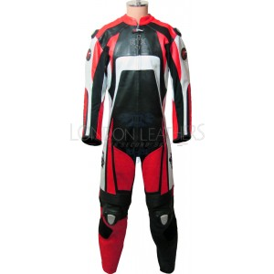Raptor Red Motorcycle Racing Leather 1Pc Suit