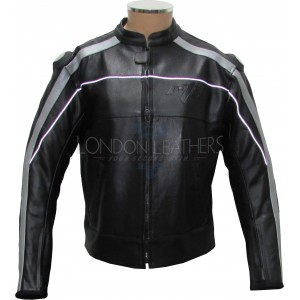 Vintage Retro Classic Black Leather Motorcycle Jacket