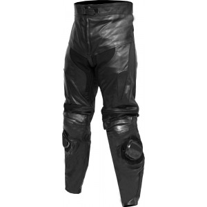 "SALE - Classic Black Leather Trouser - Waist 42"" - In Leg 34"""