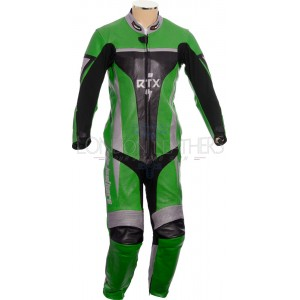 RTX Xtreme Green One Piece Motorbike Leather Suit