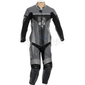 RTX Xtreme Grey One Piece Motorbike Leather Suit
