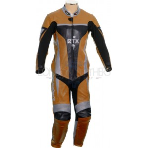 RTX Xtreme Orange One Piece Motorbike Leather Suit