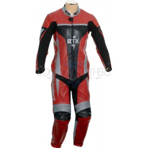 RTX Xtreme Red One Piece Motorbike Leather Suit