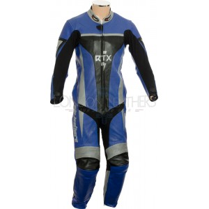 RTX Xtreme Blue One Piece Motorbike Leather Suit