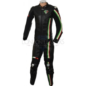 RTX Panther Italia Black Leather Race Leather 1Pc SUIT