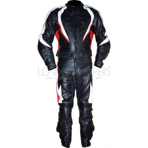 RTX Transformer Red Pro Leather Motorcycle Suit