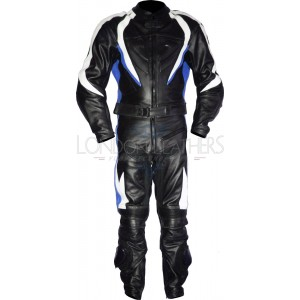 RTX Transformer Blue Pro Leather Motorcycle Suit