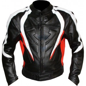 RTX Transformer Red Leather Motorcycle Jacket