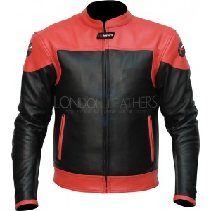 RTX Venom Red Leather Motorcycle Racer Jacket