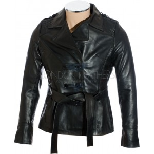 Ladies Windsor Black Leather Jacket
