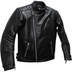 SALE - Brando Black Leather Biker Jacket - M