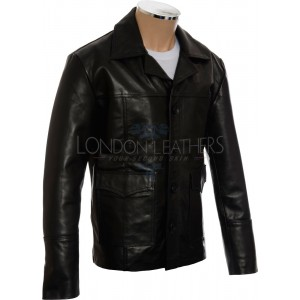 SALE - HITMAN 47 Style Black Soft Casual Leather Jacket