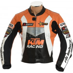 SALE - KTM Racing Leather Motorcycle Jacket