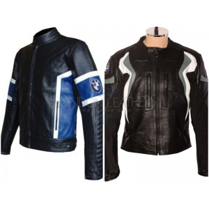 Custom Made BMW Leather Motorbike Jacket