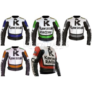Custom Made KAWASAKI Leather Motorbike Jacket