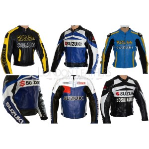 Custom Made SUZUKI Leather Motorbike Jacket