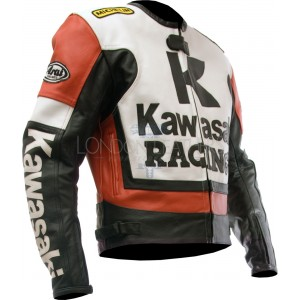 Kawasaki Ninja RED Leather Motorcycle Jacket
