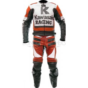 Kawasaki Racing Red Ninja Motorcycle Leathers