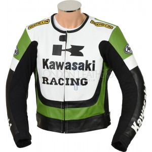 SALE - Kawasaki Racing Leather Motorcycle Jacket 2XL