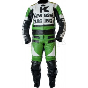 Kawasaki Racing Green Ninja Biker Leathers