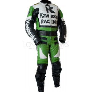 Custom Made KAWASAKI Leather Motorcycle Suit