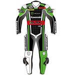 Monster Kawasaki Racing WSBK Biker Race Leathers